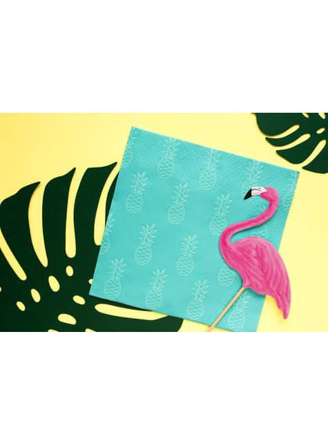 6 palillos decorativos de flamencos - Aloha Turquoise - barato