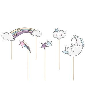 5 sekalaista yksisarvis kakunpäälistä - Unicorn Collection