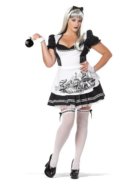 Womens Plus Size Dark Alice Costume