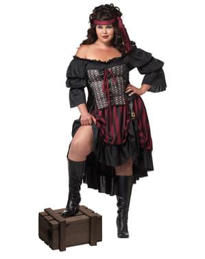 Pirat plus size kostyme Dame