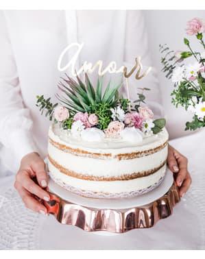 """""""अमौर"""" केक सजावट - सफेद और सोने की शादी"""