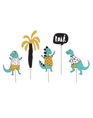 Dinosaurier Deko-Figuren Set 5-teilig gemischt - Dinosaur Party