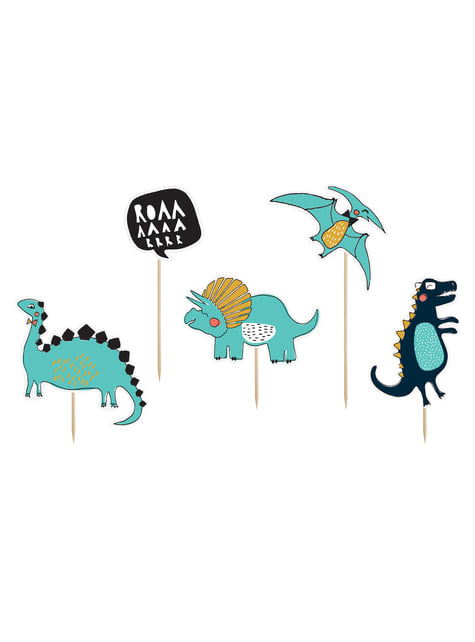 5 Dinosaur Cake Toppers - Dinosaur Party