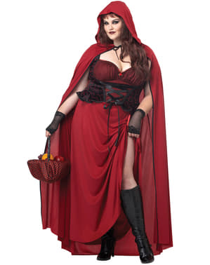 Disfraz de Caperucita oscura para mujer talla grande