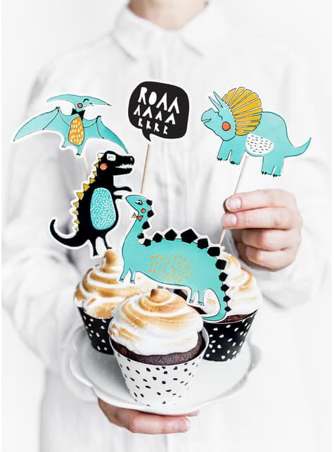 5 figurines décoratives de dinosaures - Dinosaur Party