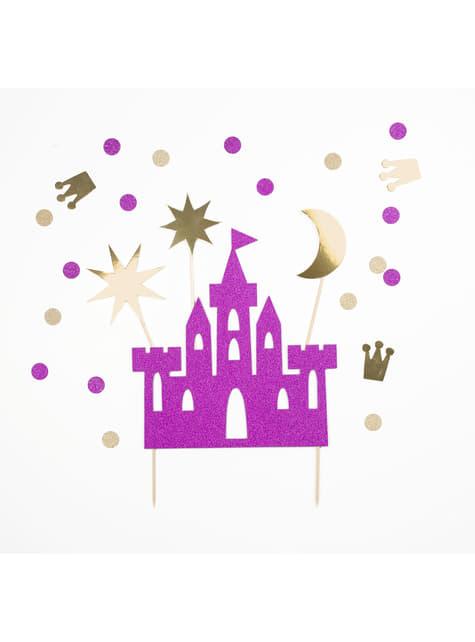 4 figurines décoratives pour gâteau château de princesse- Princess Party