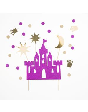 sett med 4 dekorative kakefigur til en prinsesse slott kake - Princess Party