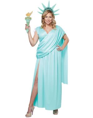 Frihedsgudinden plus size kostume til kvinder