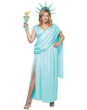 Vrijheidsbeeld Kostuum voor vrouwen grote maat