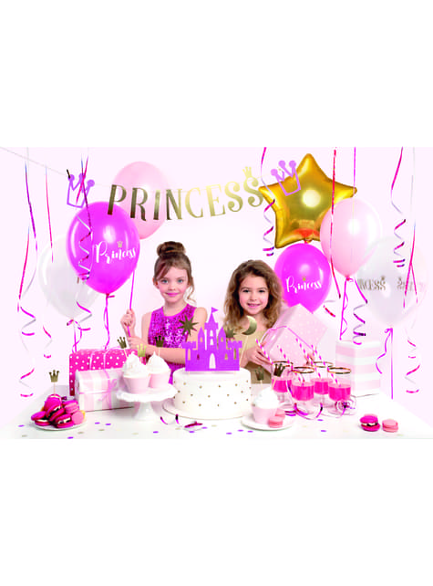 4 figure decorative per torta il Castello della Principessa - Princess Party