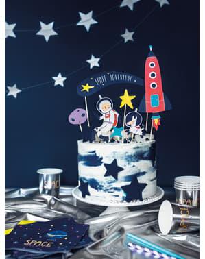 """7 украси за торта """"Space Adventure""""– Space Party"""