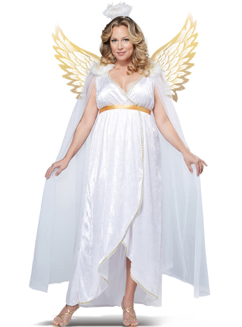 Disfraz de ángel para mujer talla grande