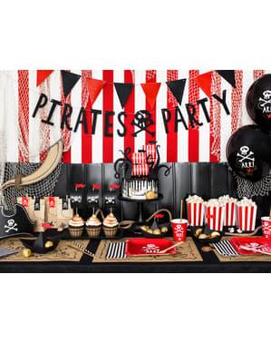 5 dekorationsfigurer till tårta skepp - Pirates Party