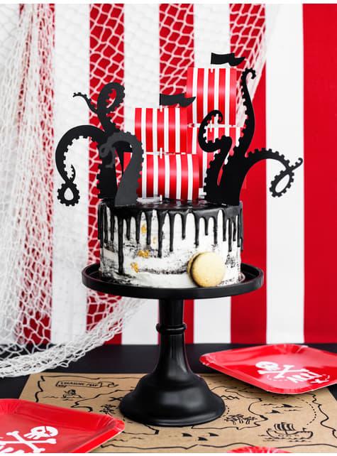 5 figuras decorativas para bolo de barco - Pirates Party