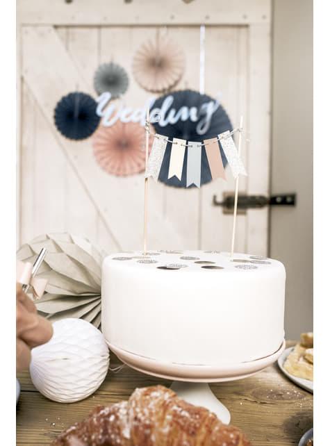 Tårtdekoration Girlang - Elegant Bliss Collection