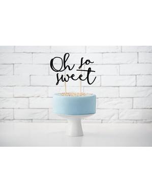 Set 3 napichovacích dekorací na dort
