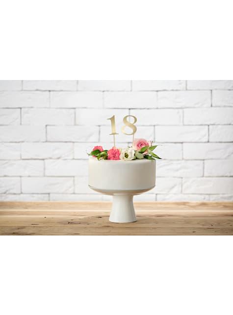 11 marcasitios con números para mesa dorados - Rustic Collection - para tus fiestas