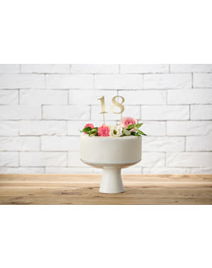 11 Table Number Picks, Gold - Rustic Collection