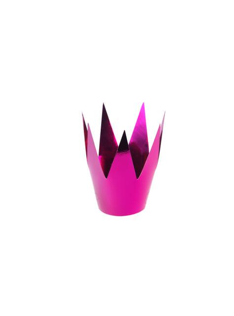 3 Metallic Pink Princess Party Hats
