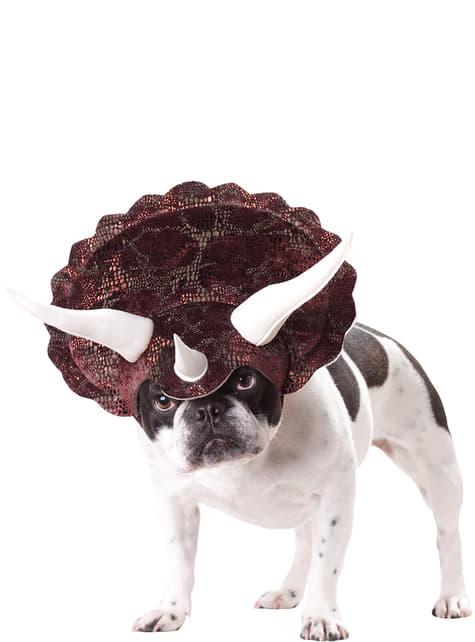 Disfraz de triceratops para perro
