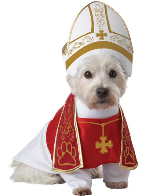 犬用ローマ法王衣装