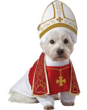 Disfraz de papa para perro