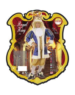 Strój luksusowy król męski