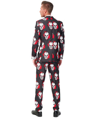Suitmeister Dress med Blodige Hodeskaller-Motiv
