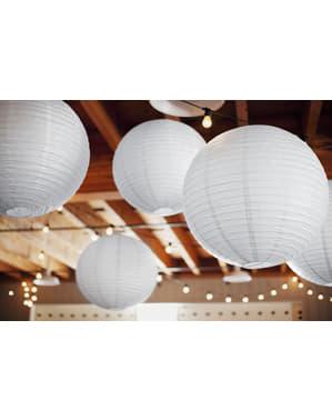 Lanterna de papel branca de 25 cm