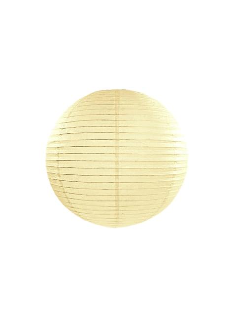 Papirlanterne i beige måler 25 cm