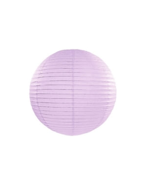 Lampion lila en papier de 35 cm