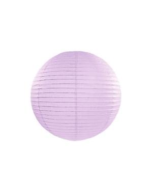 Paper lantern in lilac measuring 35 cm
