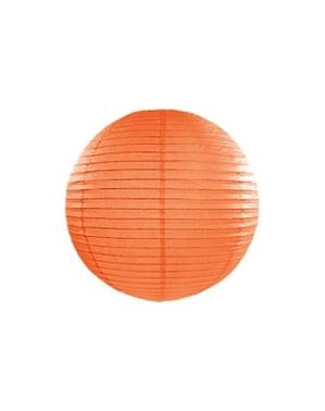 Paper lantern in orange measuring 35 cm