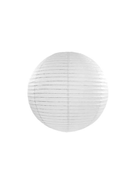 Farolillo blanco de papel de 35 cm