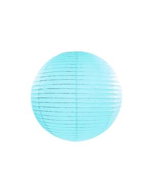 Papirlanterne i blått med mål på 35 cm