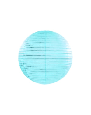 Papperslykta blå 35 cm