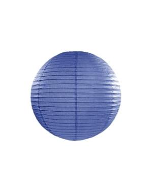 Farolillo azul oscuro de papel de 35 cm