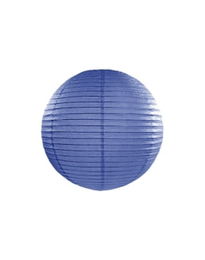 Papírová lucerna tmavě modrá 35cm