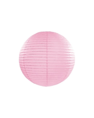 Papírová lucerna růžová 35cm