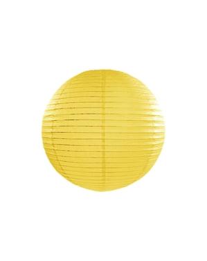 Lampion jaune en papier de 35 cm