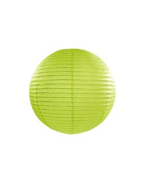 Papirlanterne i lime grønn med mål på 35 cm