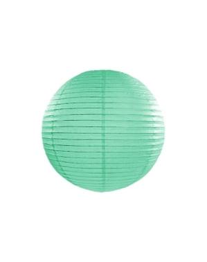 Lampion verde mentă de hârtie de 35 cm