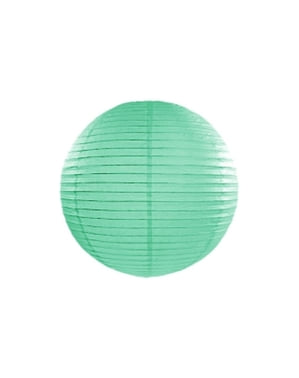Lanterna verde menta di carta di 35 cm