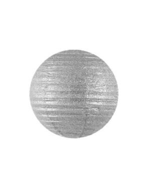 Papieren lantaarn in het zilver van 25 cm