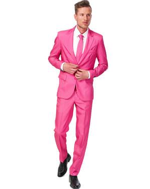 Суцільний рожевий костюм Suitmeister