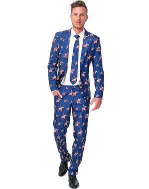 Vereinigte Staaten Flagge Print Anzug - Suitmeister