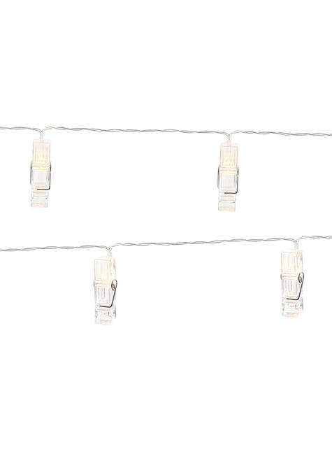 Luces LED con pinzas de 1,4 m - para tus fiestas