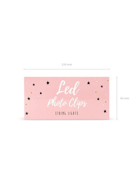 Luces LED con pinzas de 1,4 m - para decorar todo durante tu fiesta