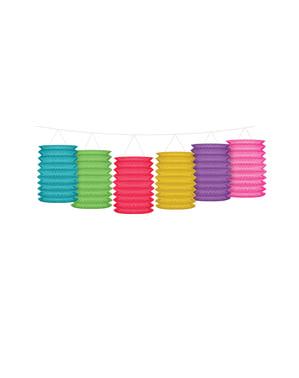 Grinalda com lâmpadas de papel multicolor - Polka Dots Collection