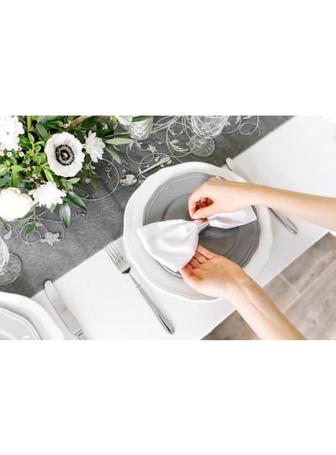 10 ronds à serviettes argentés